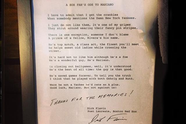 El Poema Que Le Escribió Un Fan De Los Red Sox A Mariano